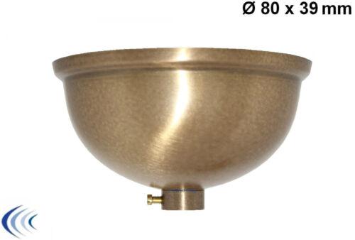 Lampen-Baldachin 80x39 Messing Kugelform Optik fumè Rohr Ø 10mm Zierabdeckung