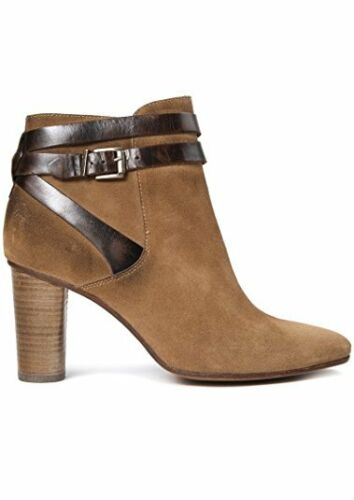 H by Hudson Mirla Suede Ankle Shoes Leather Zip Pull On Heeled Boots 3 36