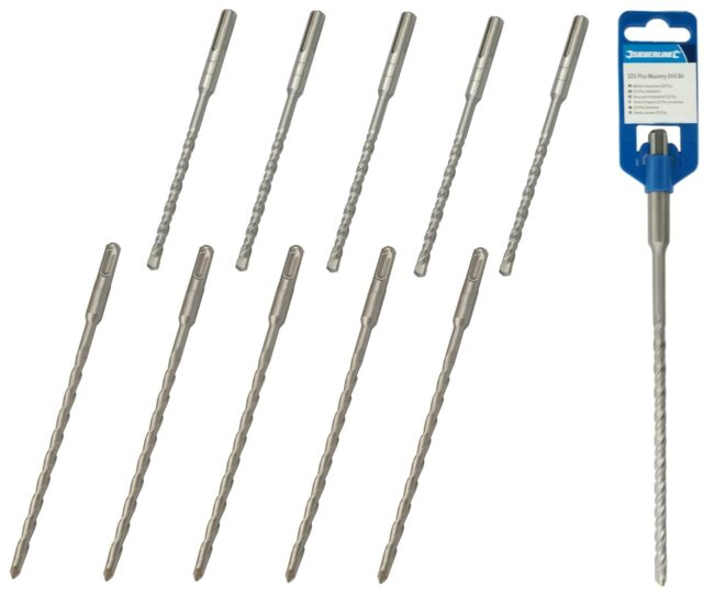 5 Bosch Plus-3 SDS Plus TCT Drill Bits 6.5mm x 160mm Brick Masonry /& Concrete