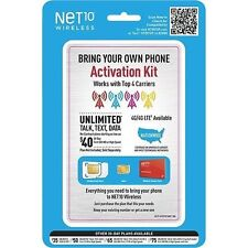NET 10 WIRELESS BRING YOUR OWN PHONE ACTIVATION KIT Pre-Paid BYOP SIM Cards