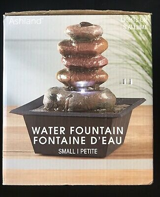 Zen Stacked Rocks Light Up Small Fountain By Ashland Office Indoor Home Decor Ebay