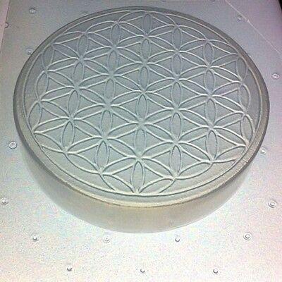 """Soap, Orgone, Organite Or Resin Mold Sacred Geometry Flower of Life 4"""" Diameter"""