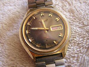 Detalles de Seiko Automático 17 joyas vintage 6106 7589 DX ver título original