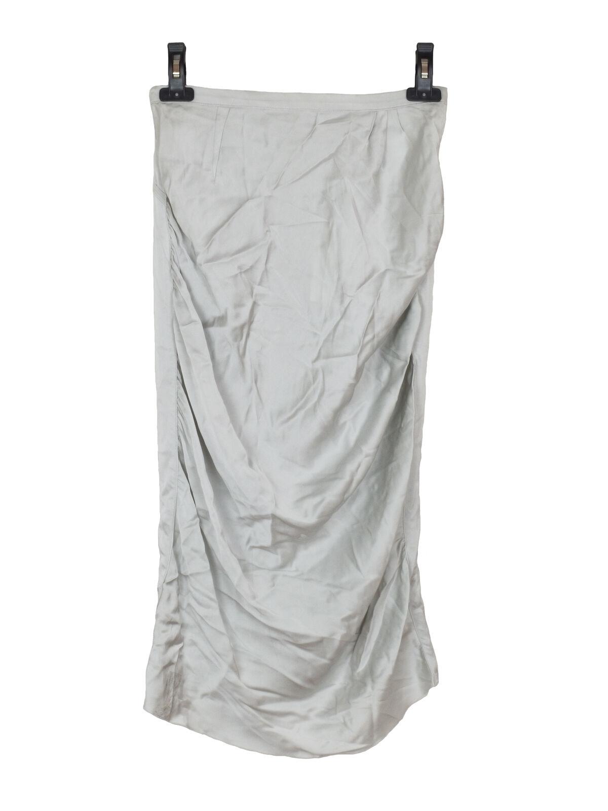 NEW Nina Ricci silk blend grey skirt
