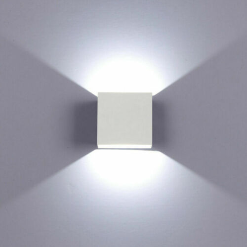 Cube LED Wall Lights Modern Up Down Sconce Lighting Fixture Lamp Indoor Outdoor