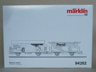 """Märklin Vuoto Cartone Per Auto-set """"henkel-fewa/persil"""" N. 94202 Del 2003-mostra Il Titolo Originale Può Essere Ripetutamente Ripetuto."""