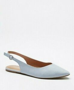 Womens Flat Blue Shoes Wide Fit