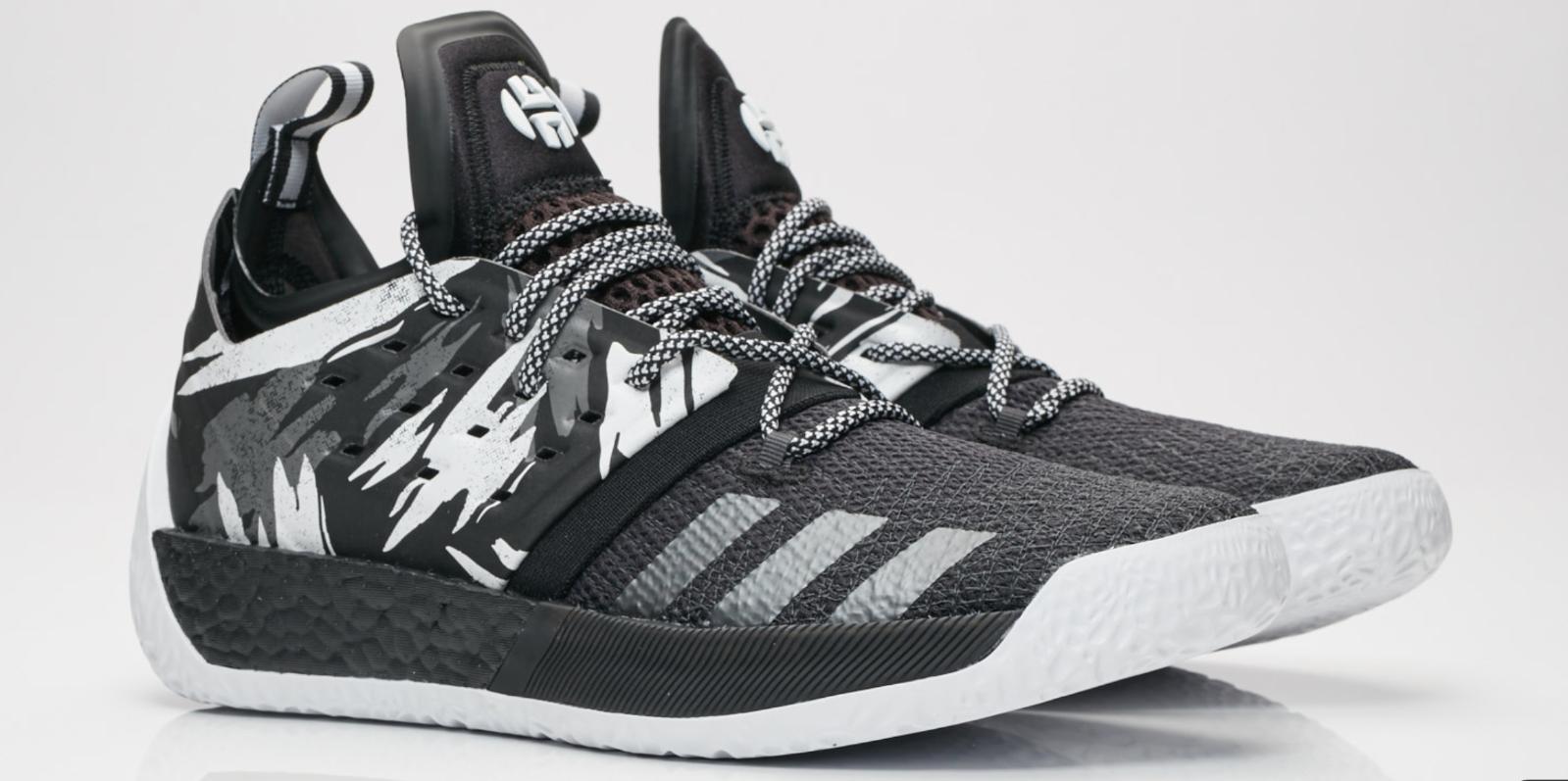 11 NEW  ADIDAS HARDEN VOL. 2 Traffic Jam Black White AH2217 Basketball shoes x1
