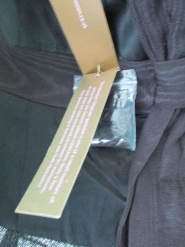 Monsoon 8 Ladies étiquettes Robe Silver Avec Taille des Vicose Black Nouveau Uk Soie 6aad8