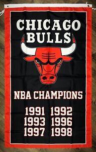 Chicago-Bulls-NBA-Championship-FLAG-3x5-ft-Sports-Black-Banner-Man-Cave-Garage