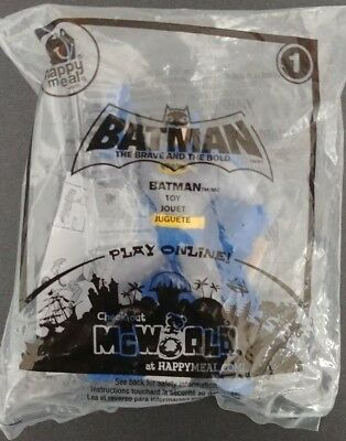 Batman Toy 2010 McDonald/'s Happy Meal Toy Batman The Brave and The Bold #1