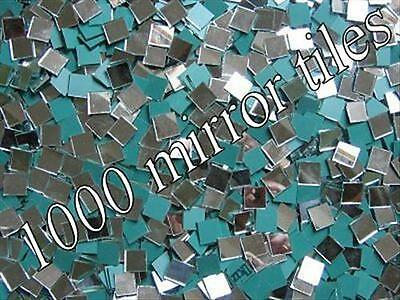 1000 Pack 2 x 2cm x 3mm Thick.  Mirror tiles bumper pack