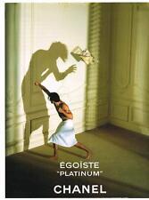 PUBLICITE ADVERTISING 1998  EGOISTE PLATINUM  parfum de  CHANEL           250213