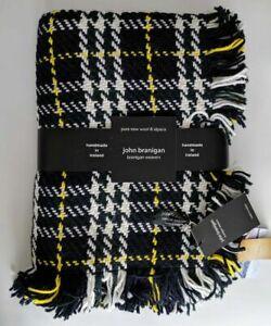 JOHN BRANIGAN LAMBAY Tartan Wool /& Alpaca Fringe Throw Blanket Ireland