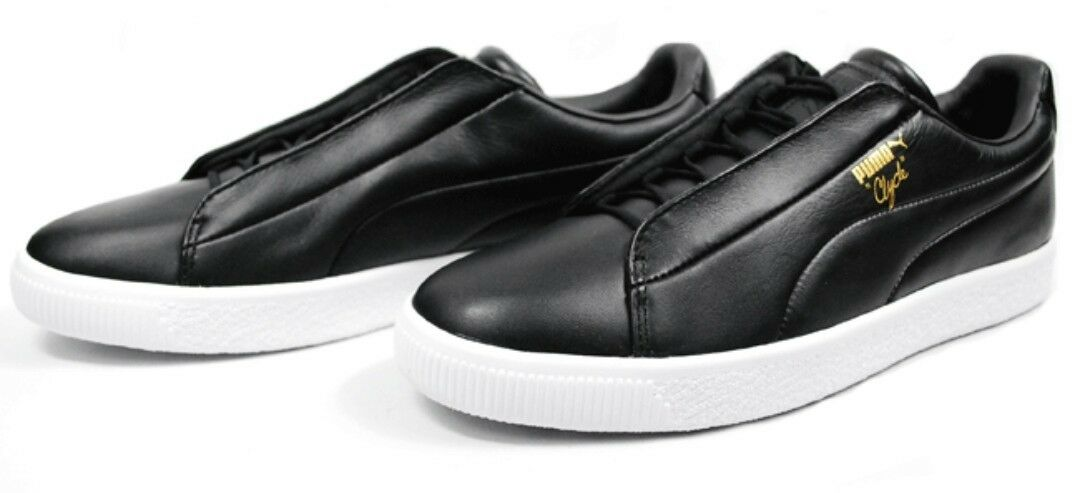 PUMA CLYDE Men's Fashion Leather Basketball Low Sneaker shoes 11.5Black NEW