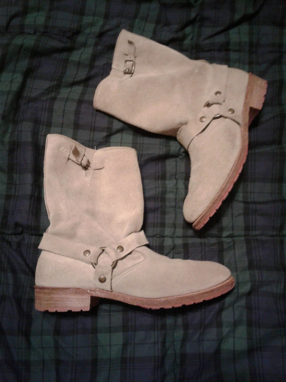 Women's suede leather boots Vintage 8 USA