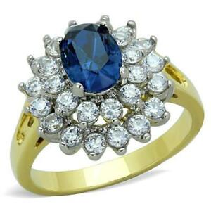 1572-MONTANA-OVAL-SAPPHIRE-CLUSTER-STAINLESS-STEEL-RING-GOLD-SIMULATED-DIAMODS