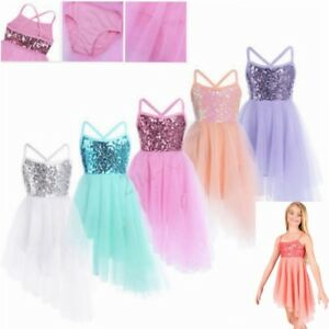 Girls-Ballerina-Ballet-Dress-Princess-Kid-Leotard-Tutu-Skirt-Dance-wear-Camisole