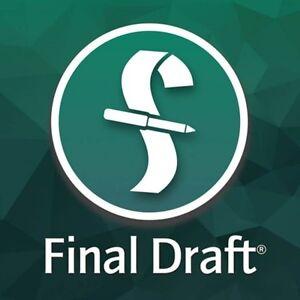 Final Draft 11 Scénarisation Software Download * Distributeur Autorisé *-afficher Le Titre D'origine Haute Qualité