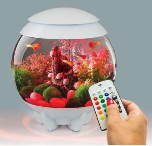 BIORB-HALO-15L-WHITE-MCR-COLOUR-REMOTE-LED-AQUARIUM-BOWL-FISH-TANK-COLDWATER