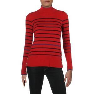 Lauren-Ralph-Lauren-Aishya-Women-039-s-Cashmere-Striped-Long-Sleeve-Pullover-Sweater