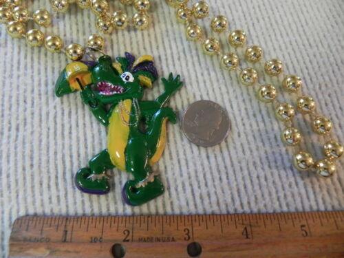 Details about  /Alligator Jester Mardi Gras Beads Necklace Pick Beads NICE Gator Carnival NICE