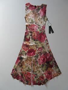 497d65422d3 NWT KOMAROV Fall Rose Floral Lace Trim Crinkle Sleeveless V-Neck ...