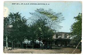 Bayonne-NJ-EAST-49TH-STREET-CENTRAL-NEW-JERSEY-RAILROAD-STATION-Postcard
