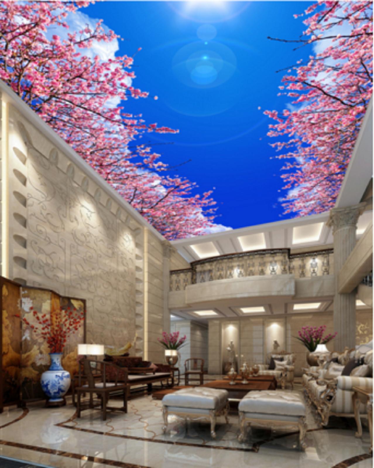 3D Cherry Blossom Blau Sky 89 Wall Paper Wall Print Decal Wall Deco AJ WALLPAPER