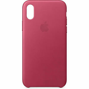 purchase cheap 5f95c ca3f5 Details about Apple iPhone X Leather Case - Pink Fuchsia
