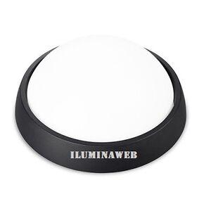 Lampara-Aplique-Exterior-LED-4w-Circular-Luz-calida-3000k-Plastico-Negro-IP54