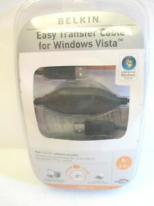 Belkin-Easy-Data-Transfer-Cable-for-Windows-Vista-P47660-A-F5U258-8-FT