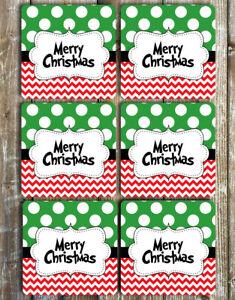 Merry-Christmas-Coasters-Set-of-6-Neoprene-Coasters