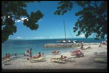 068047 Sunbathers Near Negril Jamaica A4 Photo Print