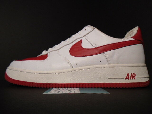2003 Nike Air Force 1 Low WHITE VARSITY 306353-161 RED VALENTINE'S DAY 306353-161 VARSITY 11 53f155