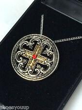 Masonic Knights Templar Engrailed Cross Pendant & Chain Jerusalem Talisman