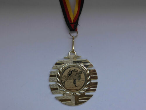 Judo Pokal Kids Medaillen 50mm mit Emblem Deutschland-Band Turnier (E237)