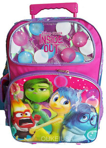 "Disney Inside Out 16"" Backpack Roller Large Backpack Book Bag ..."