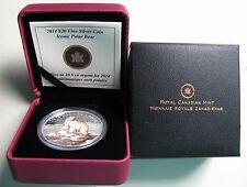 2014 Proof $20 Iconic Polar Bear Coloured Canada .9999 silver twenty dollars