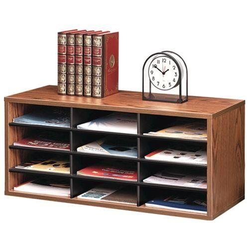 """12 Compartment s Fellowes Literature Organizer 13/"""" X 29/"""" X 11.88/"""""""