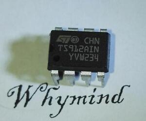 5 pcs TS912AIN Rail-to-Rail CMOS Dual Operational Amplifier DIP-8 NEW