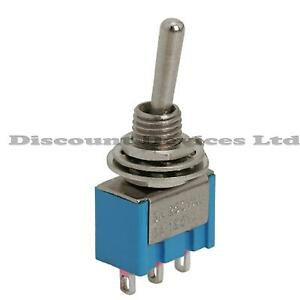 Spdt Miniature Toggle Switch On Off On 1circuit 3a 250v Ebay