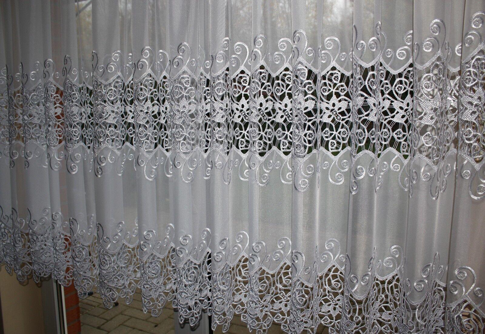 Exclusif rideau, rideau, blanches comme la neige, Plauener broderies, dentelle, broderies, Plauener sur mesure 7f28f7