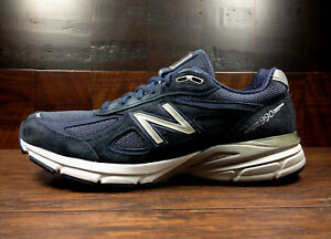 buy popular db6a7 9b4be Details about New Balance M990NV4 Navy Blue Suede Mens Running 990v4 Made  in USA (Widths D 2E)