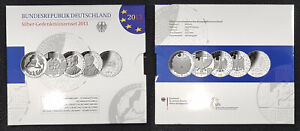 Germany Official Blister With 5 Piece Silver Commemorative Coins 2013 Pf