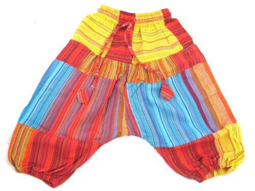 Fairtrade Children/'s Kids Harem Trousers Girls//Boys Hippie Festival Clothes Baby