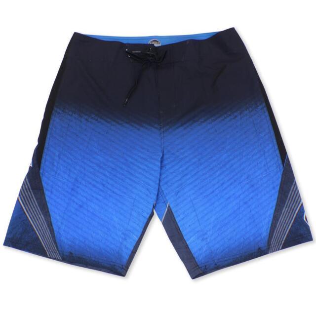 5f2cc0b608 Oakley MERCURY Shorts Size 34 L Black Blue Mens Beach Surf Swim Boardshorts
