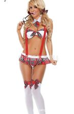 Scotland Style Sweet School Girl Student Cosplay Fancy Dress Costume, UK S-M