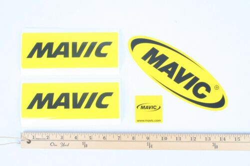 4 Pack of Mavic Stickers Decals YELLOW Perfect for Car or Toolbox France