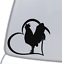 ROOSTER-HEART-Vinyl-Decal-Sticker-Car-Window-Wall-Bumper-Animal-Chicken-Bird miniature 1